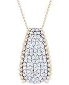 "Wrapped in Love™ Diamond Pavé Beaded 18"" Pendant Necklace (1 ct. t.w.) in 14k Gold, Created for Macy's"