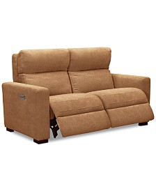 """Clynton 63"""" Fabric Dual Power Loveseat with USB Power Outlet"""