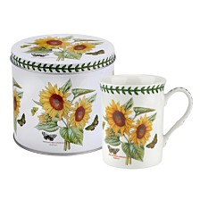 Portmeirion Botanic Garden Mug and Tin Set - Sunflower