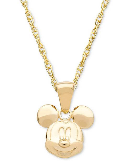 85aad8fe0ad ... 14k Gold; Disney Children's Mickey Mouse 15