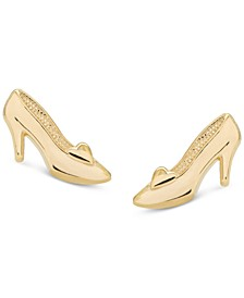 Children's Cinderella Slipper Stud Earrings in 14k Gold