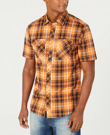 Sean John Men's Dual-Pocket Plaid Shirt