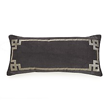 "Ayesha Curry Metallic Embroidered Oblong 10"" x 22"" Decorative Pillow"