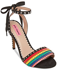 Betsey Johnson Tyna Multicolored Studded Sandals