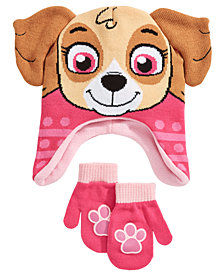 PAW Patrol Toddler Girls 2-Pc. Skye Hat & Mittens Set