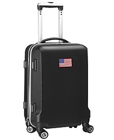 """21"""" Carry-On Hardcase Spinner Luggage - American Flag"""