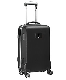 """21"""" Carry-On Hardcase Spinner Luggage - 100% ABS With Letter J"""