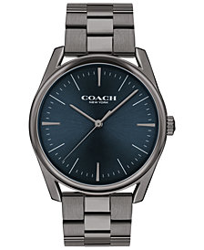 COACH Men's Preston Gray Stainless Steel Bracelet Watch 41mm