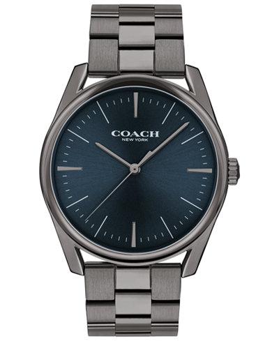 COACH Men's Preston Gray Stainless Steel Bracelet Watch 41mm