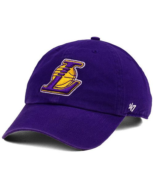 online retailer 50e92 a42a4 ...  47 Brand Los Angeles Lakers CLEAN UP Strapback Cap    ...