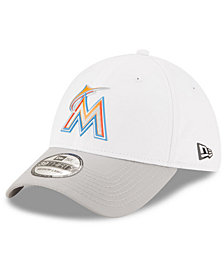New Era Miami Marlins White Batting Practice 39THIRTY Cap