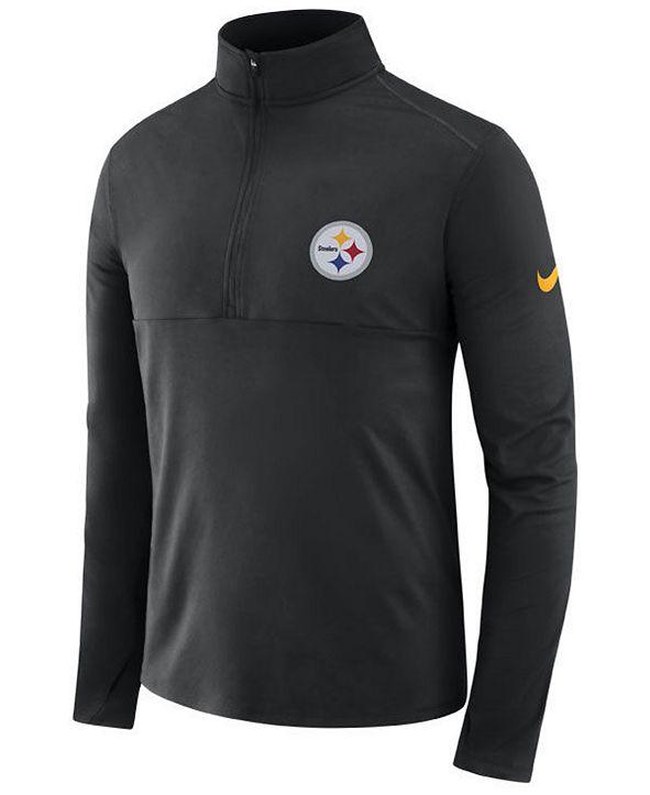 Nike Men's Pittsburgh Steelers Core Modern Quarter-Zip Pullover