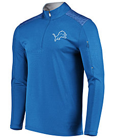 VF Licensed Sports Group Men's Detroit Lions Ultra Streak Half-Zip Pullover