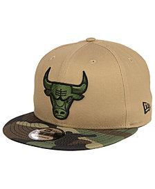 New Era Chicago Bulls Camo Tipping 9FIFTY Snapback Cap