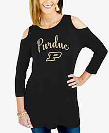 Gameday Couture Women's Purdue Boilermakers Cold Shoulder Tunic