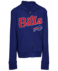 5th & Ocean Buffalo Bills Sweater Full-Zip Hoodie, Girls (4-16)