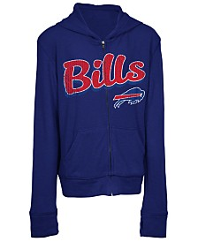 5th & Ocean Buffalo Bills Sweater Full-Zip Hoodie, Girls (4-16)