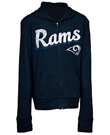 5th & Ocean Los Angeles Rams Sweater Full-Zip Hoodie, Girls (4-16)