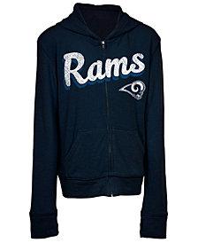 5th & Ocean Los Angeles Rams Sweater Full-Zip Hoodie, Girls (4-16)