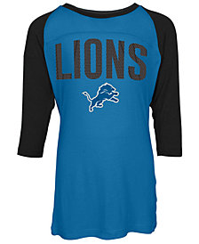 5th & Ocean Detroit Lions Raglan T-Shirt, Girls (4-16)
