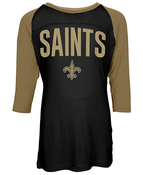 5th & Ocean New Orleans Saints Raglan T-Shirt, Girls (4-16)