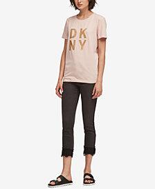 DKNY Glitter Logo T-Shirt, Created for Macy's
