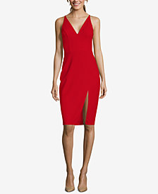 Betsy & Adam Slit Scuba Sheath Dress