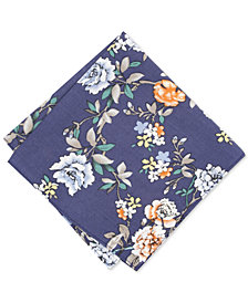Bar III Men's Ballantine Floral Pocket Square, Created for Macy's