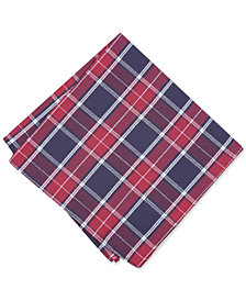 Bar III Men's Hemlock Plaid Pocket Square, Created for Macy's