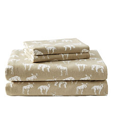 Eddie Bauer Novelty Print King Flannel Sheet Set