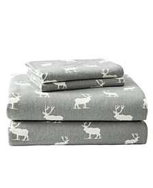Novelty Print King Flannel Sheet Set