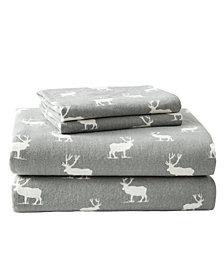 Eddie Bauer Novelty Print Full Flannel Sheet Set