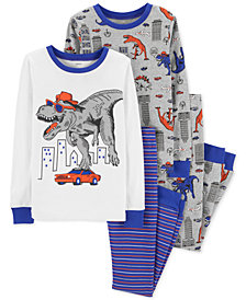 Carter's Toddler Boys 4-Pc. Cotton Dinosaur Pajama Set