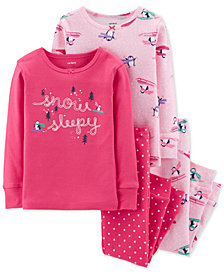 Carter's Toddler Girls 4-Pc. Penguin Cotton Pajamas