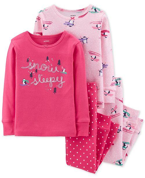 4a052ba0484f Carter s Toddler Girls 4-Pc. Penguin Cotton Pajamas   Reviews ...