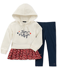 Tommy Hilfiger Baby Girls 2-Pc. Peplum Hoodie & Leggings Set