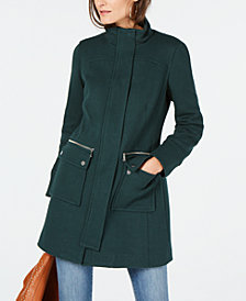 I.N.C. Stand-Collar Knit Coat, Created for Macy's