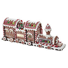 Kurt Adler 19.5 Inch Battery Operated Gingerbread LED Train Tablepiece