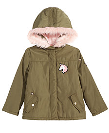 Epic Threads Toddler Girls Faux-Fur Trim Hooded Jacket, Created for Macy's