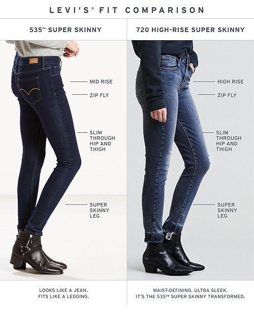 cd714c64540 Levi s 535™ Super Skinny Jeans   Reviews - Jeans - Women - Macy s