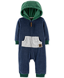 Carter's Baby Boys Hooded Colorblocked Fleece Coverall