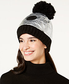 DKNY Logo Patch Quilted Puffer Beanie, Created for Macy's