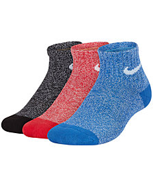 Nike Little Boys 3-Pk. Performance Cushioned Quarter Training Socks