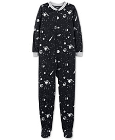 Carter's Big Boys 1-Pc. Space-Print Fleece Pajamas