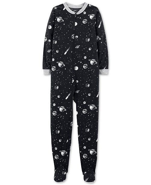 2147485d7 Carter s Big Boys 1-Pc. Space-Print Fleece Pajamas   Reviews ...