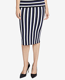 RACHEL Rachel Roy Striped Sweater Skirt, Created for Macy's