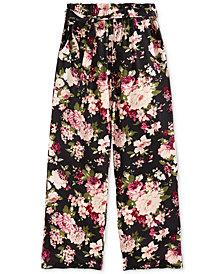 Monteau Big Girls Floral-Print Paper Bag Pants