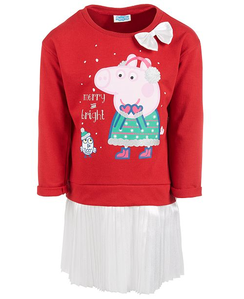 Peppa Pig Little Girls Layered-Look Holiday Tutu Dress