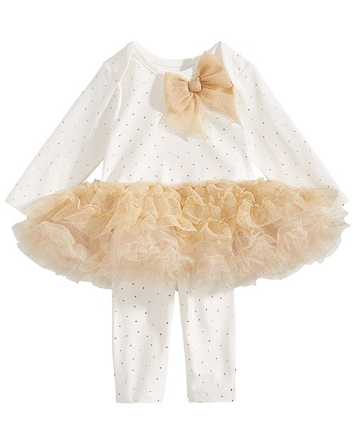 3bcff40457739 First Impressions Baby Girls Tutu Top & Leggings Set, Created for Macy's