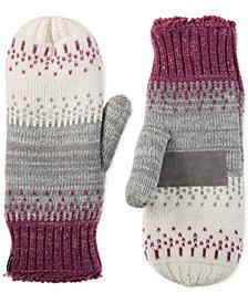 Isotoner Signature Birdseye Knit Mittens